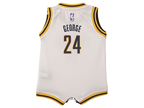 adidas Paul George Indiana Pacers #13 White NBA Infants Revolution 30 Replica Jersey (24 Months)