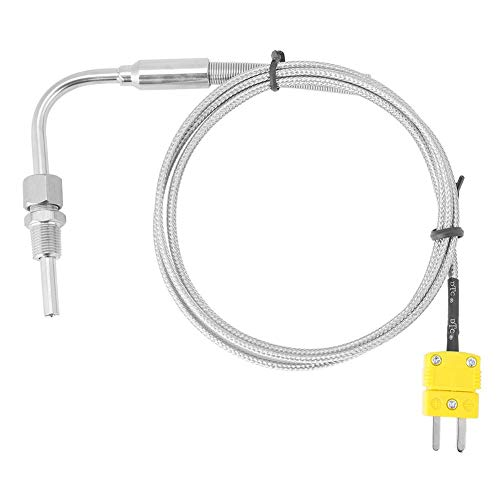 Diyeeni Termopar EGT,Sensores de Temperatura de Termopar,Termopar EGT Tipo K para Sonda de Temperatura de Gases de Escape con Punta y Conector Expuestos
