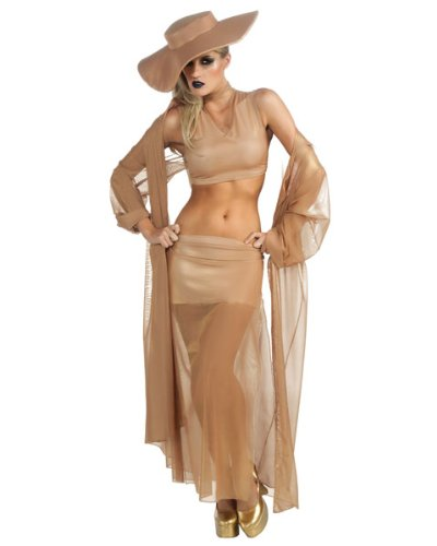 Lady GaGa Gold Grammy Adult Costume Size: Small