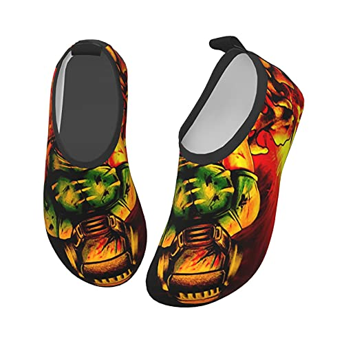 D_Om x Eer_Nal - Zapatos acuáticos para niños y niñas, antideslizantes, de secado rápido, para playa, natación, caminata, Black, 27 EU