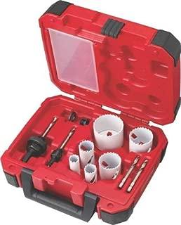 MILWAUKEE ELECTRIC TOOL 49-22-4095 Electricians Ice Hardened Hole Saw Kit, 10 Piece, 4.75