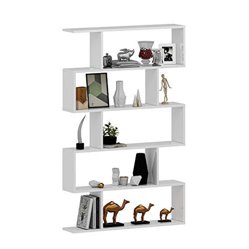 Estantería HOMIDEA Core - Estantería de almacenamiento - Estantería - Estantería de oficina / sala de estar de Le Design Moderne (Blanco - Lacado)