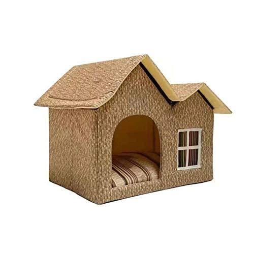 Ruixf Warm Dog Cat Kennel House Waterproof Weatherproof Indoor Outdoor Foldable Pet Shelter Puppy Nest 55x40x42 Cm (Type d)