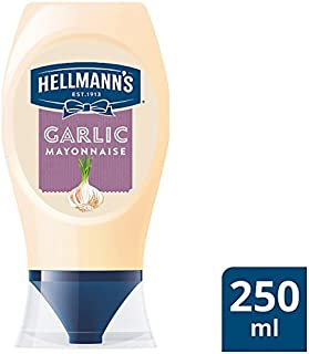 Hellmanns Squeezy Garlic Mayonnaise (250 Millilitre)