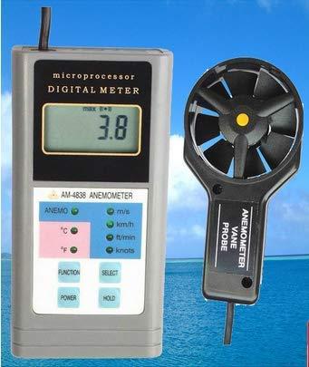DJY-JY Handheld Digital-Anemometer-Test AM4838 Windgeschwindigkeit Meter für den Außenbereich