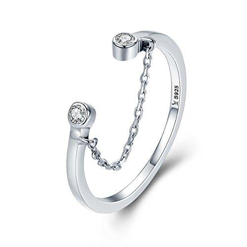 Verstellbarer Ring für Frauen, Quaste, Zirkonia, offener Daumen, Finger, Mädchenring