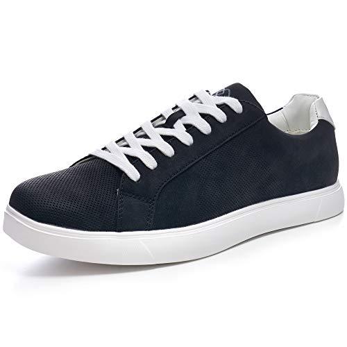 Alpine Swiss Ben Mens Perforated Low Top Sneakers Black