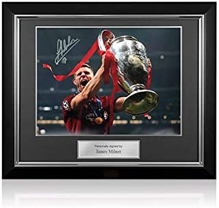 James Milner Signed Liverpool Photo: 2019 Champions League Winner Deluxe Frame | Autographed Memorabilia