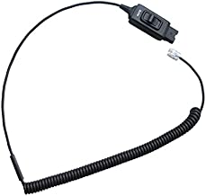 Headset cable for Plantronics - Avaya HIS-1 - Mute button | Avaya 1608,1616, 9610, 9620, 9620L, 9620C, 9630, 9630G, 9640, 9640G, 9650, 9670 IP phones