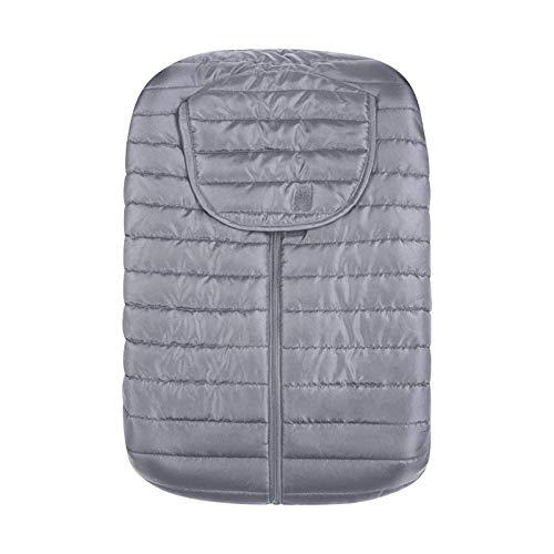 Manyao - Saco para cochecito, silla de paseo universal, elástico, carrito de bebé, capota cortavientos, protección contra la nieve, gruesa, cálida, color gris