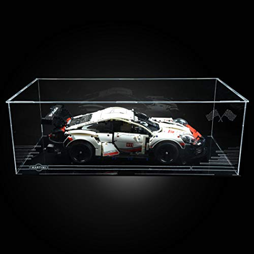 POXL Display Case Vitrine Für Lego Technic Porsche 911 RSR 42096 - Display Box Acryl Schaukasten (NUR Display Box)