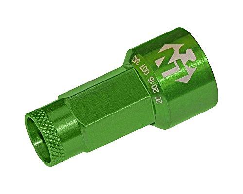 Foliatec 37200 LugNuzzCover 20er Set, Schlüsselweite, Grün Eloxiert, 17 mm