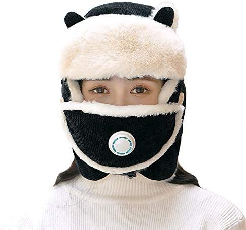 Trooper Trapper Hat Winter Windproof Ski Hat with Ear Flaps and Mask Warm Hunting Hats for Men product image