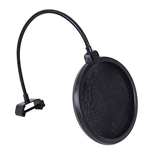 Fariy Eslabón Giratorio Del Filtro Pop Del Micrófono,Eslabón giratorio del filtro del pop del micrófono con reemplazo del parabrisas del protector del protector del sonido de la capa doble