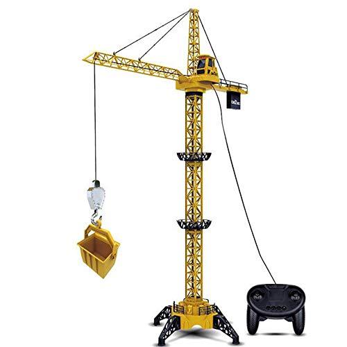 """4CH 50""""RC Tower Crane Toy para niños, Simulación DIY Wired Tower Crane Control Remoto Ingeniería Vehículo Construcción Camión Juguete conrotación de680°, Luces y Sonido para niños Regalos"""