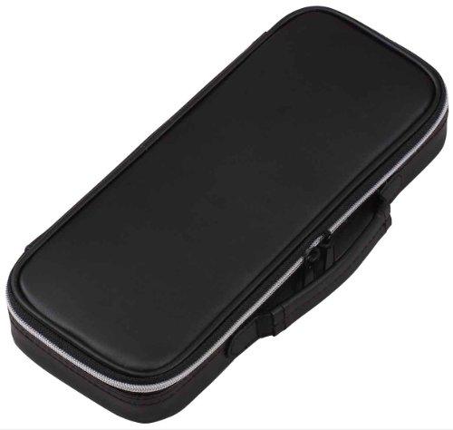 Lei top liner pencil case leather black FSB122B (japan import)