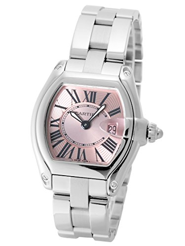 [カルティエ] Cartier 腕時計 ロードスター W62017V3 ピンクダイアル/ブラックローマン SS/SM [中古品] [並行輸入品]