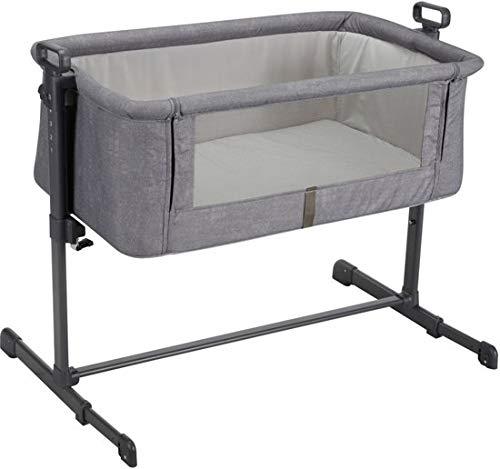 XAdventure Xline wiegje voor aan het bed babybed reisbed 2-in-1 lichte constructie met bevestigingssysteem Chardonnay