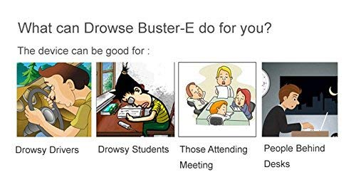 DB DrowseBuster-E Anti-Sleepy Gadget - Energy Booster & Fatigue Relief, Acupuncture, Enhance Focus, Alertness Aid, Instant Stay Awake for Drivers, Students, Office Workers and All Night Gaming