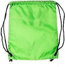 LIHI Bag 10 Pack Ripstop Kids Party Favors Nylon Blank Bulk Drawstring Backpack,Reusable Gift Sack Pack Bag,Cinch Sling Bag,Giveaways, Fluorescent Green