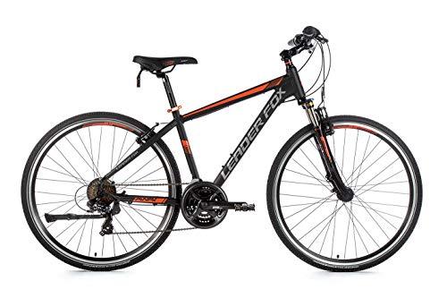 28 Zoll Alu Leader Fox Away Crosser MTB Fahrrad Crossrad schwarz orange Rh 57cm
