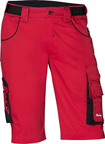 FORTIS heren bermuda/werkbroek kort 24, rood/zwart maat 52