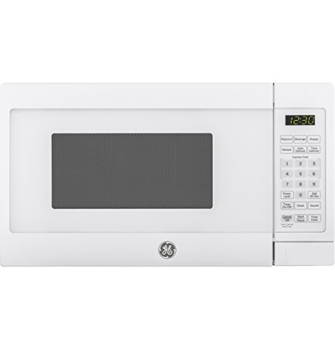 GE Appliances Microwave Oven | 0.7 Cubic Feet Capacity, 700 Watts | Kitchen Essentials for the Countertop or Dorm Room Cu Ft, White