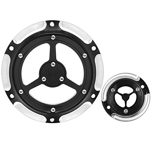 Apricot blossom Motocicleta 6 Agujeros Derby cárter de distribución Timer Cubierta Fit for Harley Sportster XL XR 883 1200 Nightster 2004-2017 16 15 14 13 12 11 10 (Color : B)