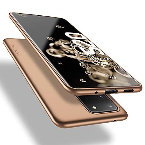 X-level Samsung Galaxy S20 Ultra Hülle, [Guardian Serie] Soft Flex TPU Hülle Superdünn Handyhülle Silikon Bumper Cover Schutz Tasche Schale Schutzhülle für Samsung Galaxy S20 Ultra 5G - Gold