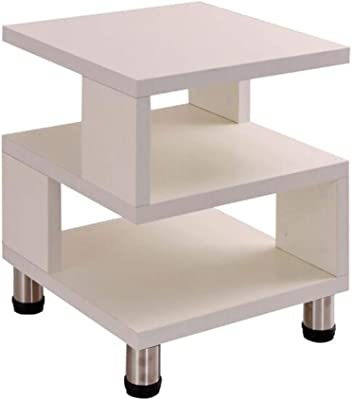 Convenient Easy to Clean Tea Table Tea Table Tatami Simple Coffee Table Plate Side Fashion Modern Square Small Coffee Table Table Warm White Multi-Purpose