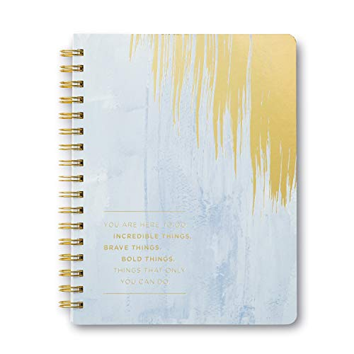Wire-o Notebook by Compendium: You are here to do increadible things. Brave things. Bold things. Things that only you can do. — Softcover, 192 lined pages