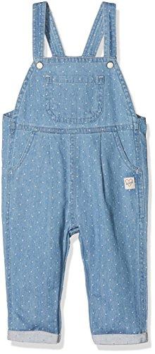 Sanetta Baby-Mädchen 114276 Latzhose, Blau (White Dots 9594), 80