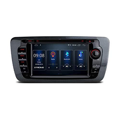 Doble Din Android 10.0 Car Stereo Radio Reproductor de DVD Navegación GPS de 7 pulgadas DSP incorporado Admite RCA completo CarAutoPlay MirrorLink BT5.0 1080P DVR DAB + OBD para SEAT Ibiza MK4 / 6J (