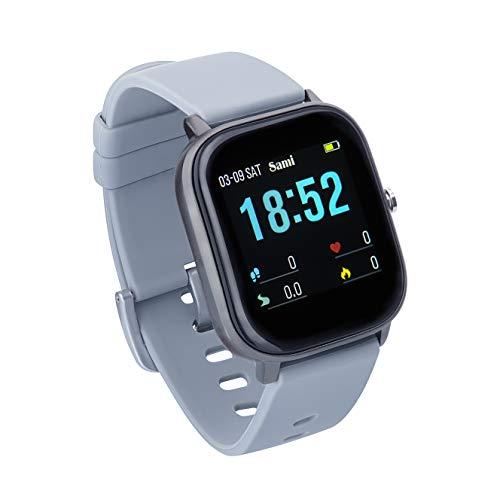 Sami - Evolution - Smartwatch, Smartband, Pulsera de Actividad Deportiva. Color Gris. para Android y iOS Función: Cámara, GPS, presión sanguínea, Fuerza G, Multideportivo.