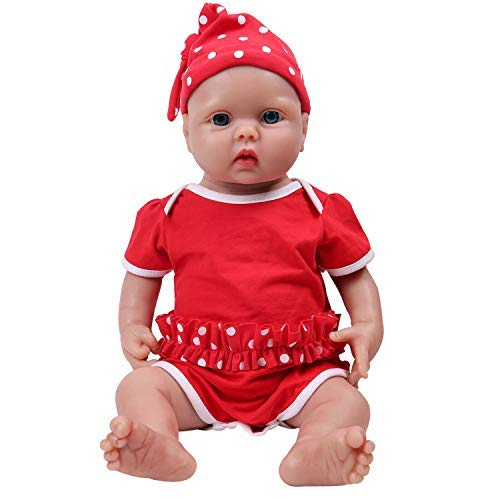 IVITA Silicone Baby Dolls,Not Vinyl Material Dolls,Real Full Body Silicone Reborn Baby Dolls, Soft Newborn Baby Dolls-18inch Girl