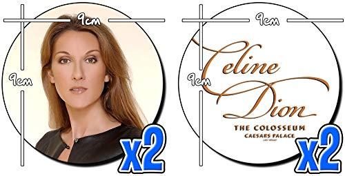 Celine Dion The Colosseum Caesars Palace Las Vegas Untersetzer x4 Coasters