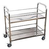 N&I Carro de servicio con ruedas de metal portátil para cocina, para el hogar, el baño, el almuerzo, bebidas y café Cart754083.5 cm