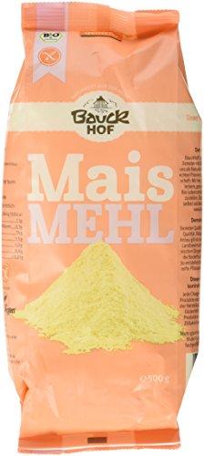 Bauckhof Maismehl glutenfrei, 3er Pack (3 x 500 g)