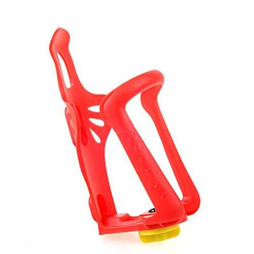 YQCSLS 1 unids plástico Bebida elástica Taza Botella de Agua Soporte de la Botella de la Botella de la Jaula for el Ciclismo de la Bicicleta de la Bicicleta de la Carretera de montaña (Color : Red)