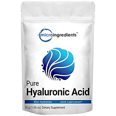 Pure Hyaluronic Acid Serum Powder, Making Anti Aging Serum for Face and Skin, 30 Gram, Powerfully Support Antioxidant, Hydration and Moisture, No GMOs, Vegan