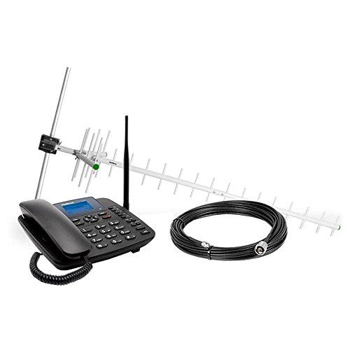 Telefone Celular Fixo 3G Cfa 6041 com Antena 7Dbi e Cabo 10M, Intelbras, 3302468, Preto