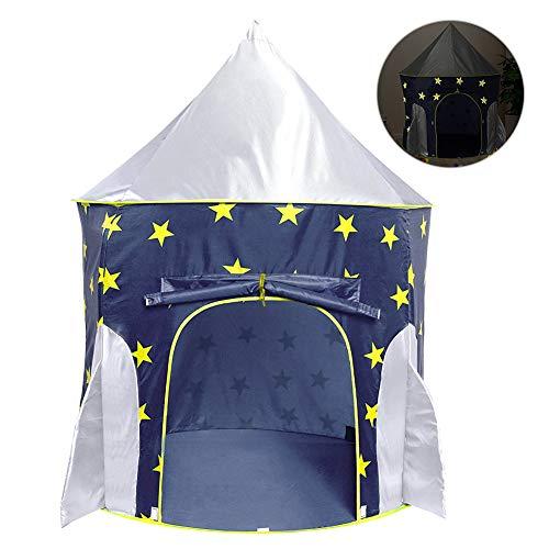 Achort Spielzelt, Prinzenschloss Zelt für Jungs Kleinkinder, Spielhaus für innen und außen, tragbares Pop Up Tipi mit Tragetasche, Super einfach und schnell auf- und abbauen, Geschenk für Kinder