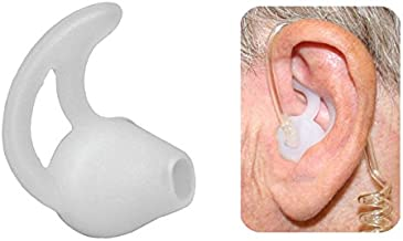 Earmold Silicone Fin Earbud Ear-Mold Earpods for Surveillance Earpieces Two-Way Radios (PAIR)