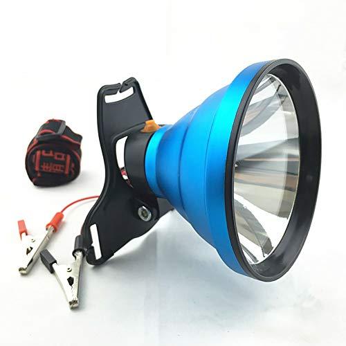 12V LED Lampe frontale 8000 Lumens Zooomable Super Bright Headlamp 100W LED Torches, mains libres lampe de poche pour Camping, Courir, Pêche, Chasse, lecture, réparation de voitures (sans batterie)