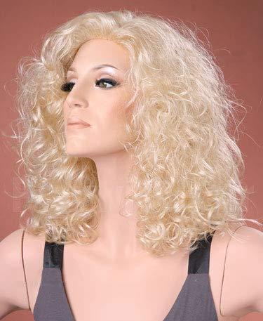 Forever Jonge UK Dames Mode Pruik Lange Blonde Bouncy Krullen Perm Licht Blond Krullend Pruik