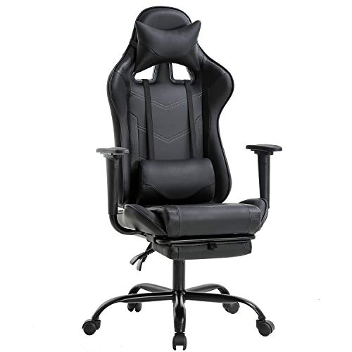 Office Chair PC Gaming Chair Ergonomic Desk Chair Executive PU Leather Computer...