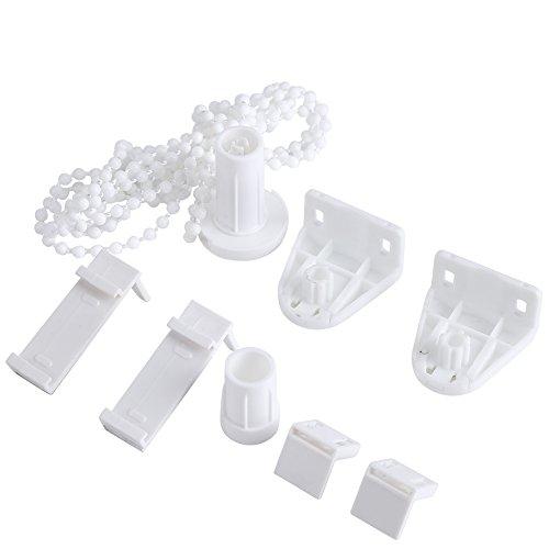 Zerodis Kit de Reparación de Persianas de 17 mm, Roller Blind Sombra de Embrague Bracket Lado de La Polea, Cadena de Reparación Kit de Montaje Tratamientos de La Ventana