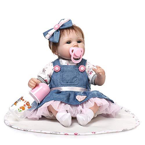 Eastdall Reborn Doll Reborn Dolls,Boneca renascida realista de 16 polegadas de brinquedo corporal macia artesanal, menina renascida