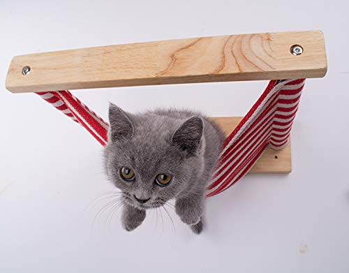 BL Hänge-Cat Hammock Bett-Haustier Möbel Kitten Wandregal Set Katze Perch Holz Verkratzen Climbing Beitrag Cat Tree House (Color : 12, Size : 40x35cm)