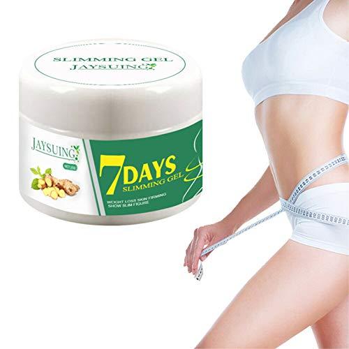 Crema Adelgazante de Jengibre para el Cuerpo, Crema Adelgazante anticelulítica de Jengibre para Dar Forma a la Cintura, el Abdomen y los glúteos (3 Piezas)